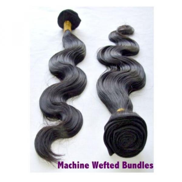 High Grade Brazilian&Peruvian Real Virgin Remy Human Hair 100g Weave Extensions #3 image