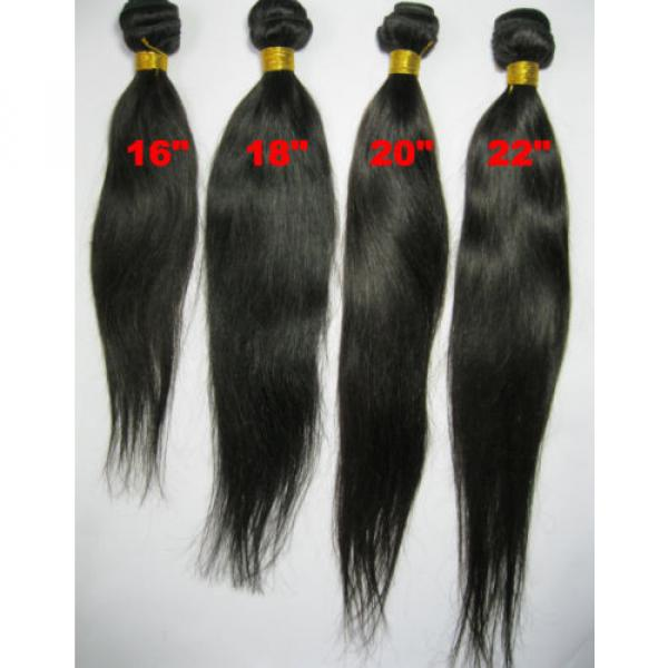High Grade Brazilian&Peruvian Real Virgin Remy Human Hair 100g Weave Extensions #4 image
