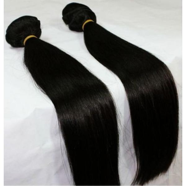 High Grade Brazilian&Peruvian Real Virgin Remy Human Hair 100g Weave Extensions #5 image