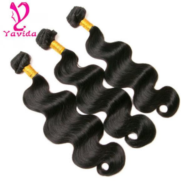 7A Virgin Body Wave Hair Weft 4 Bundles Brazilian Peruvian Human Hair Weave 400g #3 image