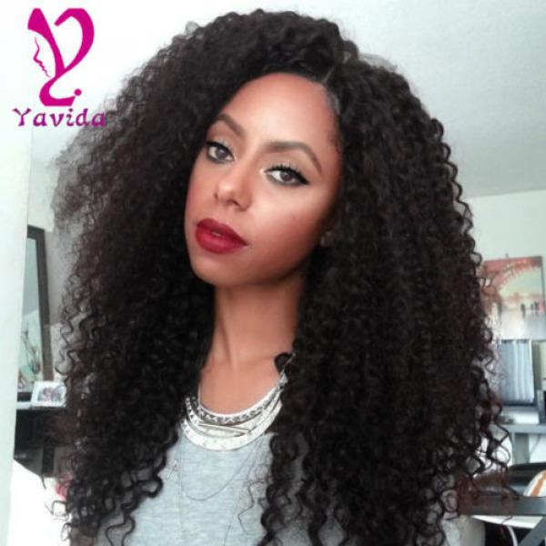 THICK 7A 300g Kinky Curly 3 Bundles Peruvian Virgin Human Hair Weave Weft #1 image