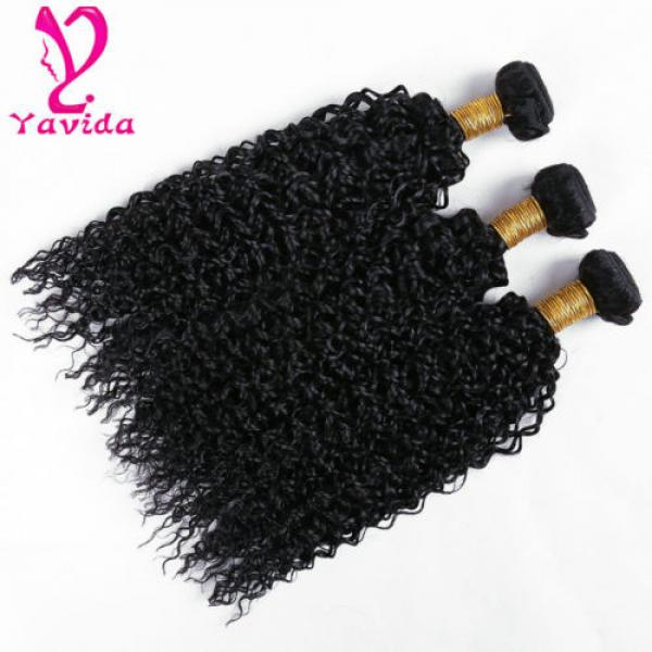 THICK 7A 300g Kinky Curly 3 Bundles Peruvian Virgin Human Hair Weave Weft #3 image