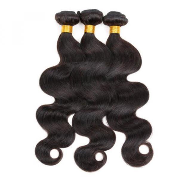 Virgin Brazilian/Peruvian/Indian Human Hair Extensions 3 Bundles/300g Body Wave #1 image