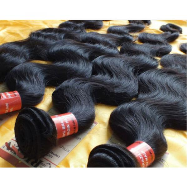 Brazilian Hair Products 3 Bundle/300g Human Hair Extension 100% Virgin #5 image