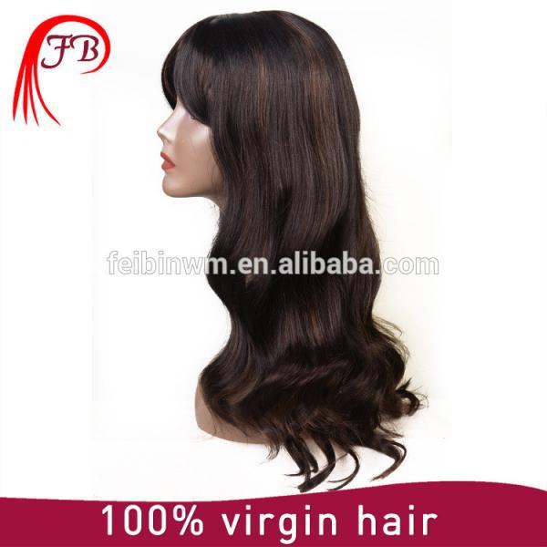 Aliexpress perfect malaysian hair bob bangs human hair wig manufacturer in China #4 image