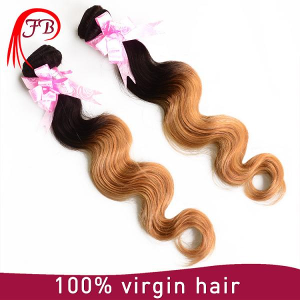 Brazilian human hair cheap ombre body wave hair 8-20 inch human hair weave extension #1 image
