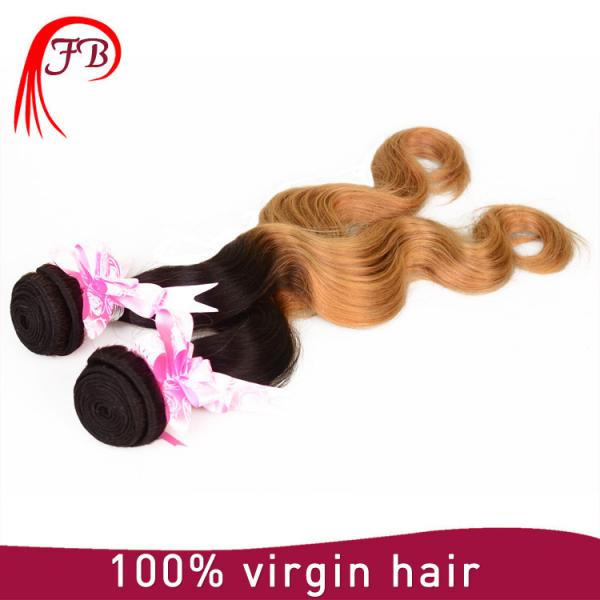 Brazilian human hair cheap ombre body wave hair 8-20 inch human hair weave extension #2 image