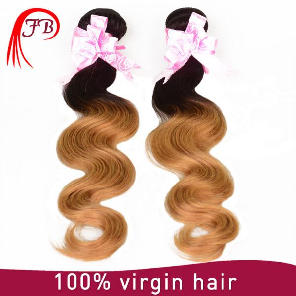 Brazilian human hair cheap ombre body wave hair 8-20 inch human hair weave extension #3 image