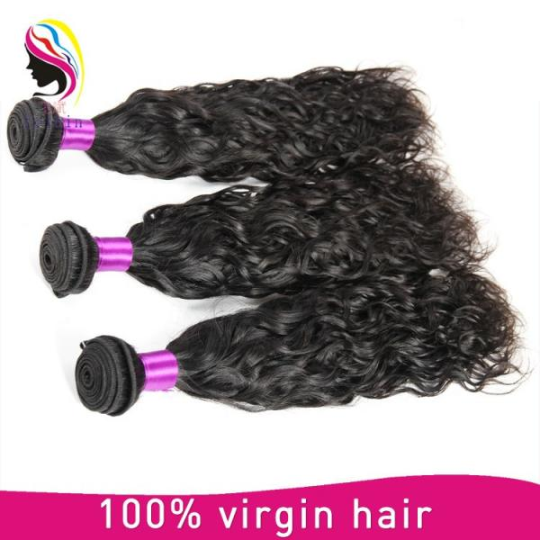 brazilian human hair weave natural wave hair extension #5 image
